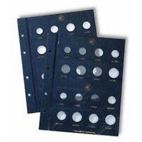 Leuchtturm Münzblätter VISTA, Euro neutral für je 2 Kursmünzensätze pro Blatt