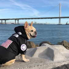 Dog Windbreaker Clothes French Bulldog Pupreme Shirt Dog Sport Retro Dog Face