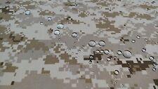 "DESERT MARPAT CAMOUFLAGE 4 WAY STRETCH MILITARY 52""W LYCRA PERFORMANCE FABRIC"