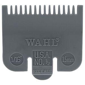 WAHL Premium Hair Clipper Comb Guard Attachment Guide Grey #1/2 1/16 inch 1.5 mm