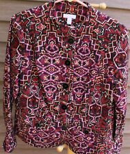 Women's Multi-Colored Blazer/Jacket by Charter Club; Size: Medium