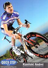 CYCLISME carte cycliste KUNITSKI ANDREI équipe QUICK STEP 2010