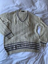 DUNHILL CABLE KNITTED SILK JUMPER SIZE LARGE