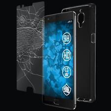 Silikon Hülle für OnePlus OnePlus 3 Crystal Clear transparent + Glasfolie