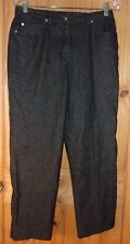 Ruby Road Black Sparkly Pants, 30 x 27, Women's 6 Petite