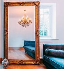 French Style Extra Large Ornate Antiqued Gold Mirror