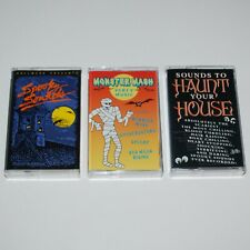 Lot of 3 Halloween Cassette Tapes Sounds To Haunt Your House Party Music & More
