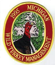 1995 MICHIGAN DNR SUCCESSFUL TURKEY HUNTER PATCH-DEER-BEAR-ELK-MOOSE-FISHING