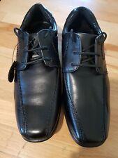 Marks & Spencer Older Boys Black Leather Laced School Shoes Size UK 2 NEW