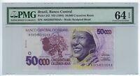 50000 Cruzeiros Reais Brasilien 1994 C240 / P.242 PMG 64 CU UNC EPQ Baiana