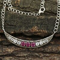 Oxidized Sterling Silver Pendant Necklace Charm Connector Pendant -PN518 Real Pave Diamond Necklace Natural Rutile Quzartz Pendant