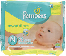 Pampers Swaddlers Diapers Newborn Up to 10 lbs 20 Count
