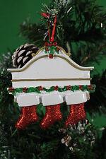Ornamento del árbol de Navidad Personalizado Decoración Familia manto blanco 3 Medias