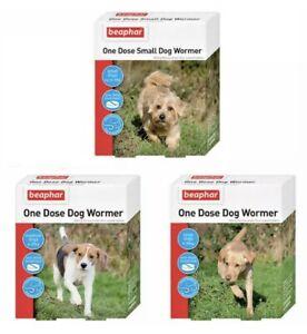 Beaphar One Dose Wormer Treats Tapeworm & Roundworm Small Medium & Large Dog