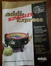 Instruction Manual Addi- Express Kingsize by Selter knitting machine