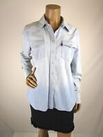 Levi's Pearl Snap Western Shirt Size L Western Yoke Double Patch Pockets Long Sl