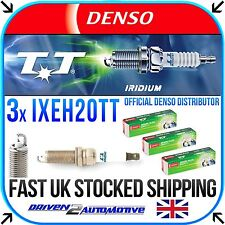 3x DENSO IXEH20TT IRIDIUM TT SPARK PLUGS For Nissan NOTE 1.2 06.13-