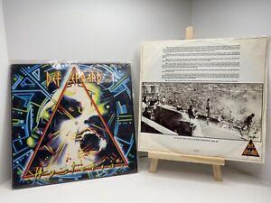 DEF LEPPARD - HYSTERIA ORIG 1987 1st PRESS MASTERDISK DMM VINYL LP SHRINK** EX