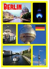 BERLIN, GERMANY - SOUVENIR NOVELTY FRIDGE MAGNET (SIGHTS & FLAGS) - NEW / GIFTS