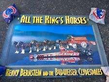 """Kenny Bernstein and the Budweiser Clydesdales """"All the Kings Horses"""" 27x19"""