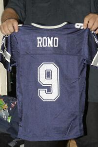 Tony Romo Dallas Cowboys Jersey Blue Youth Med Mint QB