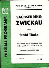 DDR-Liga 87/88 ZEPA acero Thale-BSG Sajonia anillo Zwickau, 14.11.1987