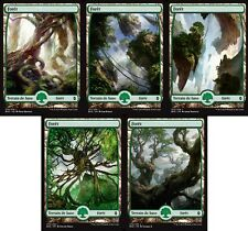 MTG Magic - La Bataille de Zendikar - Les 5 Forêts Full Art -  VF