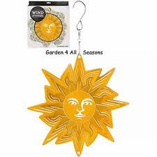 "6""/15cm SUN FACE Stainless Steel Wind Spinner Sun Catcher Hook Garden Gift Pack"