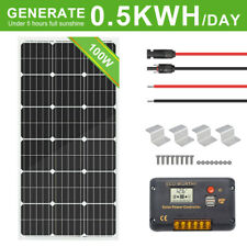 ECO-WORTHY Solar Panel KIT:100W Solar panel & 20A Charge Controller & Brackets