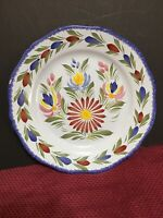 HB Henriot Quimper Vintage French Pottery Flowers Plate