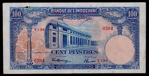 French Indochina 100 Piastres 1946 P-79a VF