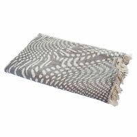 Hamamtuch WAVE Tropfen grau Strandtuch Pareo Saunatuch 90x175 cm 100% Baumwolle