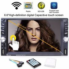 """Car MP5 Media Player with Rear Camera 6.6"""" Touch Screen 2 DIN Bluetooth FM Radio"""