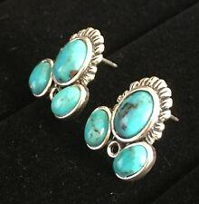 Turquoise Gemstone Sterling Silver Earrings