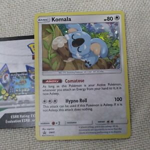 Pokemon TCG Komala SM41 Promo + Online Code Trading Card Mint
