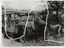 18x13cm Karl Bayer film stand foto 1956 Erica Beer Land Rover Leone Still Photo 1