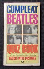 1975 The Complete BEATLES Quiz Book VG- 3.5 1st Warner Paperback
