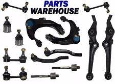 14 Pc Kit Front Upper & Lower Control Arm Ball Joints Inner Outer Tie Rod End...