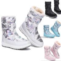Boys Girls Winter Plush Waterproof Snow Boots Kids Children Thicken Warm Shoes
