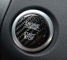 UK STOCK GENUINE CARBON BLACK Cover Mercedes Keyless GO Engine Start Push Button