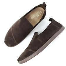 Toms Mens Slip On Loafers Size 10 Dark Brown Casual Comfort Shoes