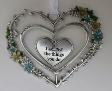zzz I love the things you do Blooming Lovely 3d Heart Ornament ganz