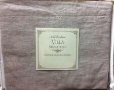 Noble Excellence Villa Signature New $50 Linen Euro Pillow Sham 26 x 26 Gray Nwt