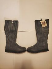 MukLuks Grey Leather Knee High Insulated Boots Women's Size 7