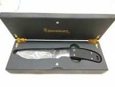 Browning NWTF mo- 052 fixed blade hunting knife with wood case knives