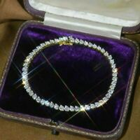 5.00 Carat Round Cut VVS1 Diamond Tennis Ladies Bracelet Yellow Gold Over