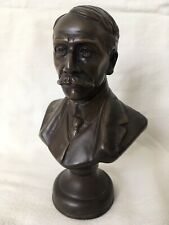 Sir Edward Elgar Cold Cast Bronze Bust Figurine by Victor Heyfron Signed