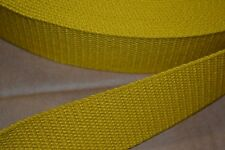 10 Yard Roll 1 1/2 inch Heavy Cotton Webbing Gold Yellow Free Shipping!