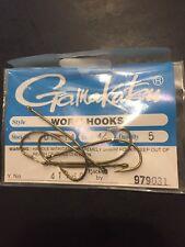 Gamakatsu Worm Hook 4/0 5 Per Pack 01114-5