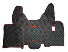 Set of RHD Floor Mats For DAF XF 106 BLACK With Red Logo And End Eco Leather.
